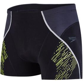 speedo Fit Panel Aquashorts Herr black/oxid grey/lime punch